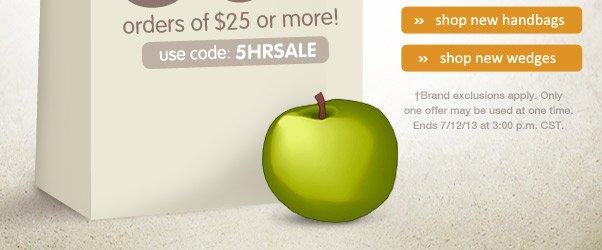 Flash Sale - 30% Off $25!