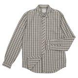 Grey And White Check Shirt