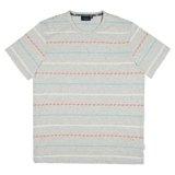 Grey Geometric Stripe T-Shirt