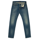 Tapered-Fit Light Wash Jeans