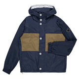 Washed-Navy Lightweight Waterproof Hooded Jacket