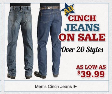 All Men's Cinch Jeans on Sale
