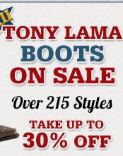 All Tony Lama Boots on Sale