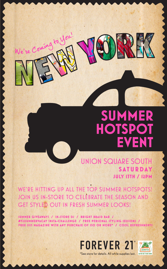 We're Coming to You New York! Summer Hotspot Event