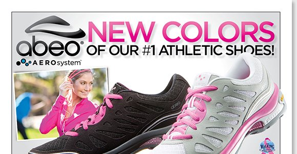 Shop the NEW ABEO AEROsystem 'Azaleh' arrivals from our exclusive 'Walking for Hope' Pink Ribbon Collection. Featuring advanced air-infused technology, AEROsystem incorporates Vibram® outsoles for maximum grip, channeled air chambers for the ultimate comfort, and more! Shop now for the best selection at The Walking Company.