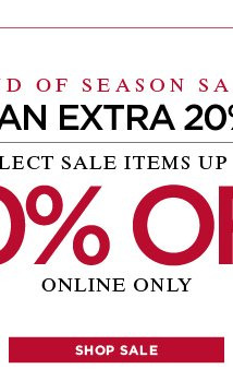 Now an extra 20% off! Shop now!