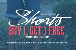 Shorts: Buy 1, Get 1 Free
