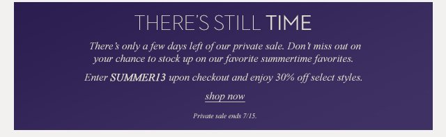 There's still time | Shop Sale