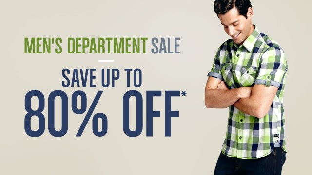 Men's Department Sale