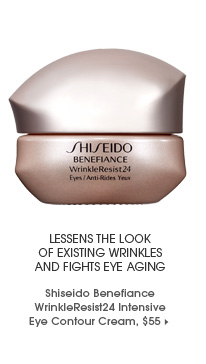 Lessens the look of existing wrinkles and fights eye aging. ships free. Shiseido Benefiance WrinkleResist24 Intensive Eye Contour Cream, $55