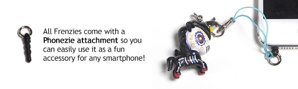 All Frenzies come with a Phonezy attachment so you can easily use it as a fun accessory for any smartphone!