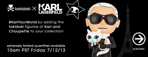 KarlYourWorld by adding this tokidoki figurine of Karl and Choupette to your collection!