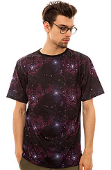 The Space Print Tee in Black