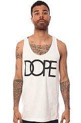 The Dope Logo Tank in White