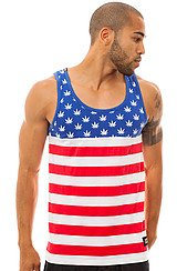 The Pledge Football Tank in Red White & Blue