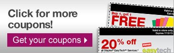 Click  for more coupons! Get your coupons.