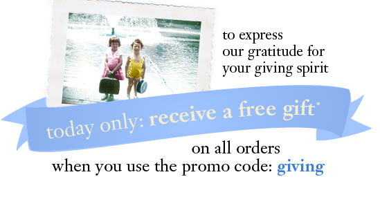 today only: receive a free gift