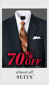70% Off* - Suits**