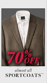 70% Off* - Sportcoats**