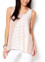 Mystree Lace Accented Blouse