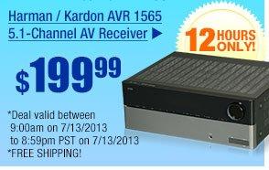 $199.99 -- Harman / Kardon AVR 1565 5.1-Channel AV Receiver