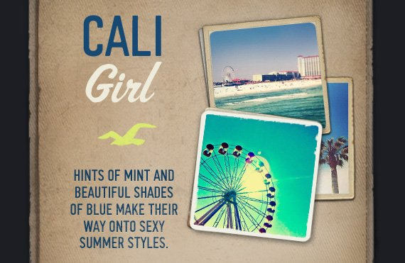 CALI GIRL HINTS OF MINT AND BEAUTIFUL  SHADES OF BLUE MAKE THEIR WAY ONTO SEXY SUMMER STYLES.