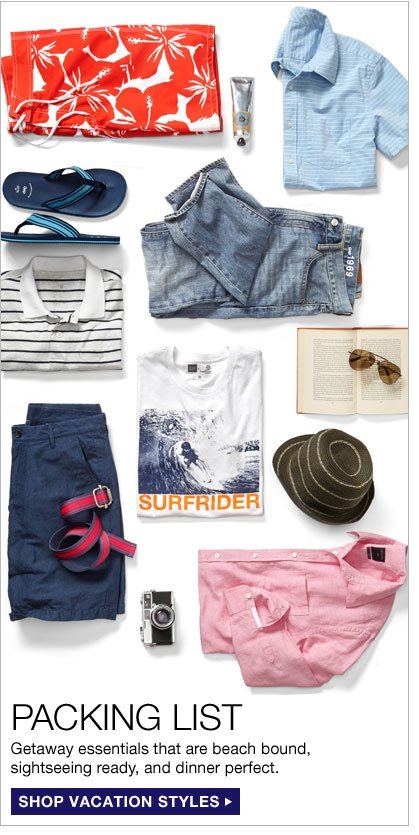 PACKING LIST | Getaway essentials that are beach bound,  sightseeing ready, and dinner perfect. | SHOP VACATION STYLES