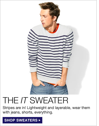THE IT SWEATER | Stripes are in! Lightweight and layerable, wear them with jeans, shorts, everything. | SHOP SWEATERS