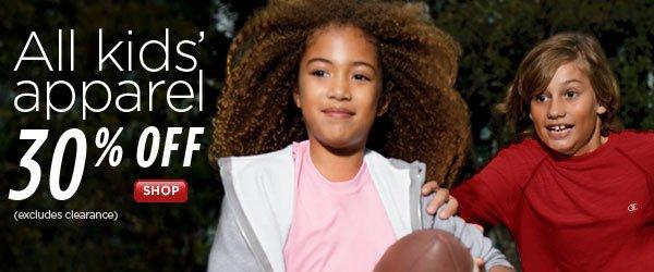 SHOP Kids' Apparel 30% Off