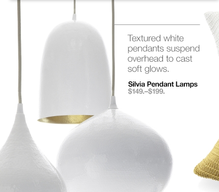 Silvia Pendant Lamps $149.-$199.