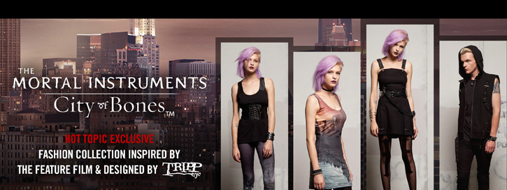 THE MORTAL INSTRUMENTS HT EXCLUSIVE - FASHION COLLECTION INSPIRED BY THE FEATURE FILM & DESIGNED BY TRIPP