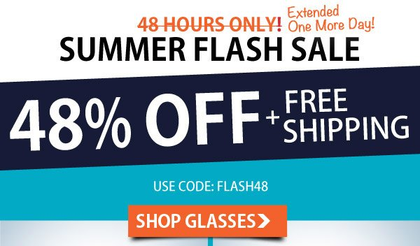 48 Hour Flash Sale - 48% Off + Free Shipping!