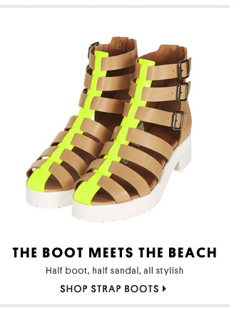 The boot meets the beach - Shop strap boots