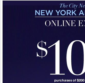 Save $100 off $200 or $50 off $100 with this Online Only coupon