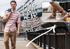 Shop Slim Chinos & Sneakers from $35