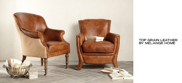TOP GRAIN LEATHER BY MELANGE HOME, Event Ends July 17, 9:00 AM PT >