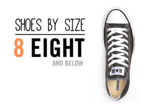 Shop Shoes By Size: 8 & Below