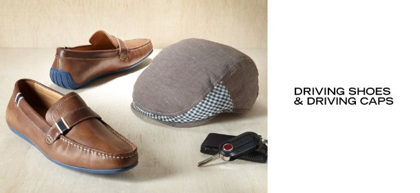 DRIVING SHOES & DRIVING CAPS, Event Ends July 17, 9:00 AM PT >