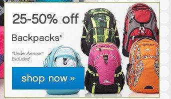 25-50% off Backpacks. Shop now.
