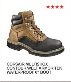 "Corsair MultiShox Contour Welt Armor Tek Waterproof 6"" Boot"