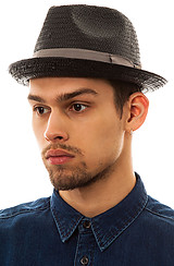 The Castor Fedora Hat in Black and Taupe