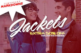 Jackets 50% Off