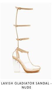 Lavish Gladiator Sandal Nude