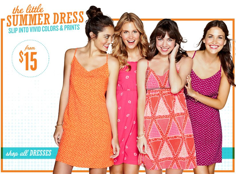 the little SUMMER DRESS | SLIP INTO VIVID COLORS & PRINTS | from $15 | shop all DRESSES