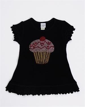 Olive & Pique Girls Studded Cupcake Cotton Dress