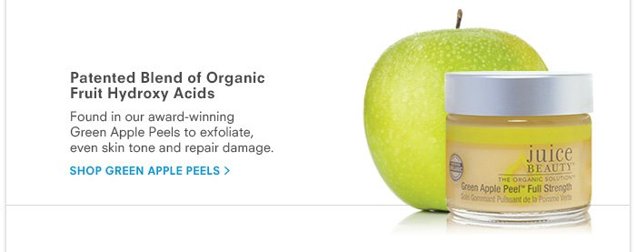 Patented Blend of Organic Fruit Hydroxy Acids - Green Apple Peels