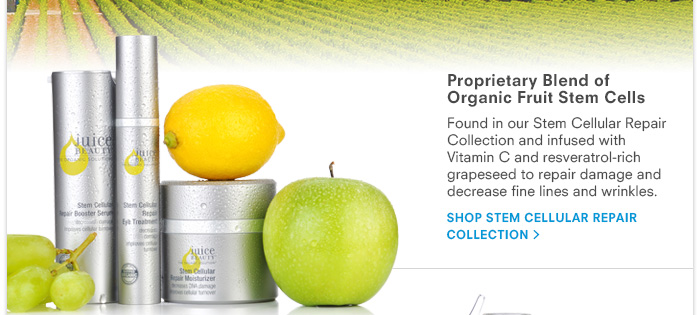 Proprietary Blend of Organic Fruit Stem Cells - Stem Cellular Repair Collection
