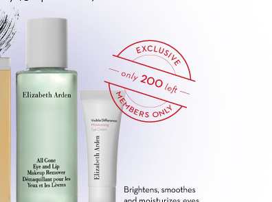 EXCLUSIVE only 200 left MEMBERS ONLY. Brightens, smoothes and moisturizes eyes.