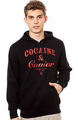 The Cocaine & Caviar Pullover Hoodie in Black