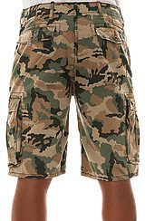 The Ace Cargo Shorts in Green Camo